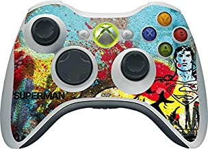 Skinit Decal Gaming Skin for Xbox 360 Wireless Controller - Officially Licensed Warner Bros Superman Color Splatter Design