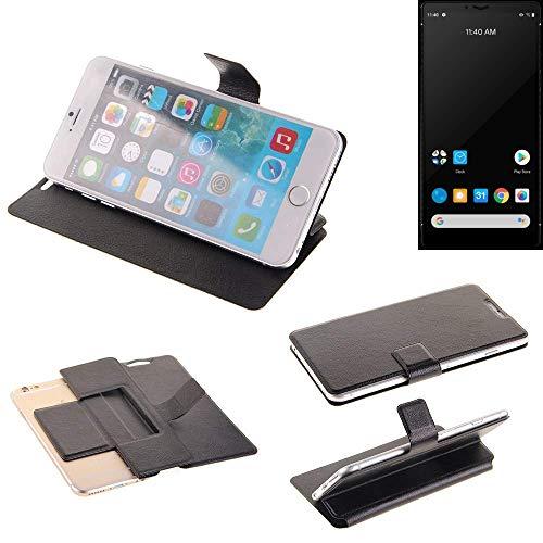 K-S-Trade® Schutz Hülle Für Carbon 1 MKII Schutzhülle Flip Cover Handy Wallet Hülle Slim Handyhülle Bookstyle Schwarz