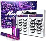 Arishine 3D 5D Magnetic Eyelashes Kit Magnetic Eyeliner For Use with Magnetic False Lashes Natural Look-No Glue Needed