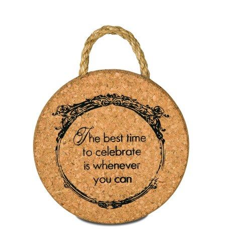 Wine All The Time Celebrate Cork Trivet, 6-Inch