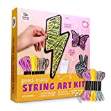 DIY String Art With Lights.String Art Kit to Make DIY Wall Decor Butterfly, Peace Sign & Lightning Bolt with LED Fairy Lights. DIY Bed Room Decoration Project for Teens. Gift for Teenage Girls Boys 13