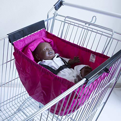 Babiage Carrito de la compra Hamaca bebé (fucsia)