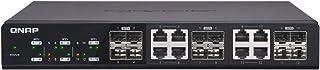 Qnap 双 M.2 22110/2280 SATA SSD 扩展卡(PCIe Gen2 X 2),半高支架预安装,低调平和全高捆绑QSW-1208-8C-US 12 Ports SFP+ shared with 8 Ports Tbase