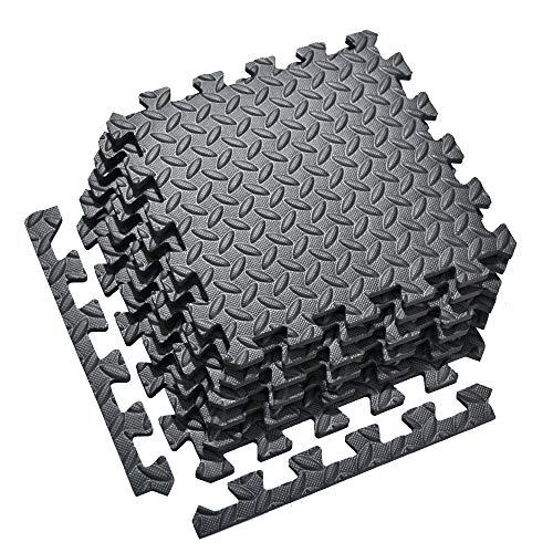 Xinpeng Floor Puzzle Mat, Fitness Puzzle Mat 20 PCS 30 * 30 cm | Colchoneta de ejercicio de cadena, Rompecabezas cuadrado de espuma de ladrillo, Gimnasio en casa Estera de fitness Suelo deportivo