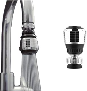 Chi yue 360 Degree Rotate Faucet Deluxe Internal Thread Nozzle Filter Adapter Water Saving Bubbler Connector Swivel Tap Aerator Diffuser Kitchen Accessories(2PCS)