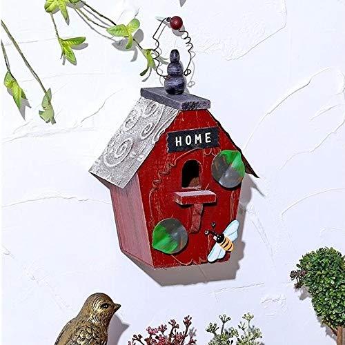 GFDE Pajarera Tabla de Aves de jardín de Madera Birdhouse alimentador Protegido la estación de a Mesa de alimentación portátil Adorno de jardín (Color : B, Size : Free Size)