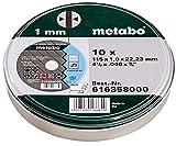 Metabo 6.16358.00 - Mole per troncare in acciaio INOX, 115 x 1, in scatola di latta, 10 pezzi