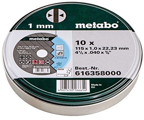 Metabo Promotion Trennscheiben 115x1,0x22,23 Inox, 10 Stück in Blechdose
