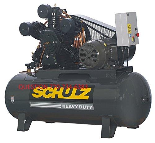 20 HP 3 PHASE 120 GALLON, 175 PSI, 80 CFM, SCHULZ AIR COMPRESSOR