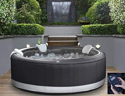 DEKO VERTRIEB BAYERN XXXL Luxus Premium SPA Whirlpool Mallorca + LCD Fernbedienung 204x204cm aufblasbar Outdoor+Indoor MSPA Pool Heizung für 6 Personen