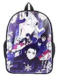 Cosstars YURI on ICE Anime Stampa di Immagini Borsa da Scuola Studente Zaino Backpack Rucksack Zaini Sacchetto Nero 11