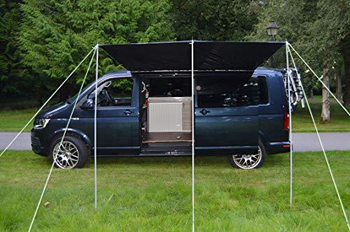 Wild Earth Sun canopy awning for VW Camper Van motorhome 2.4 Metres x 3metres BLACK