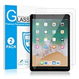 [2 Pack] Screen Protector for iPad 6th Generation/iPad 9.7 inch (2018/2017)iPad Pro 9.7/iPad Air/iPad Air 2, SMAPP Tempered Glass Screen Protector/Apple Pencil Compatible/Scratch Resistant/Bubble Free