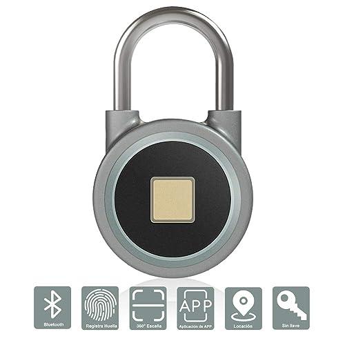 IDABAY Inalámbrico Candado Bluetooth Smart Lock control en huella Cerradura de Bluetooth control remoto impermeable acero