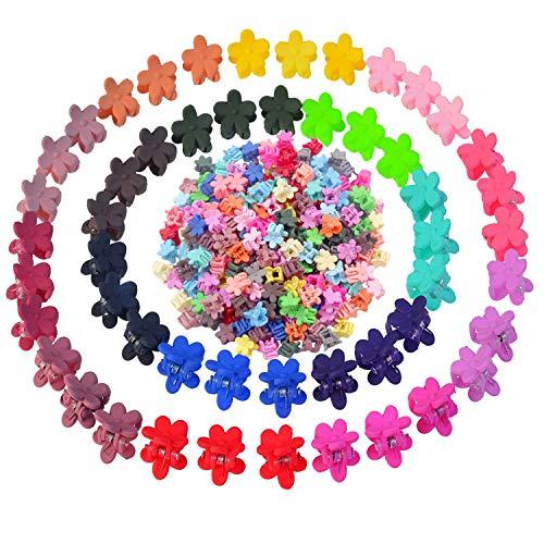 Comius Sharp 100 PCS/Set Color mezclado Moda Cabello Mini Garra Flor Sólido Clip de caramelo BB Horquilla Lindo Resina Barrette Ciruela Garras Accesorios para el cabello