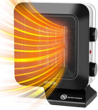 VPCOK 1200W Portable Electric Space Heater with Thermostat