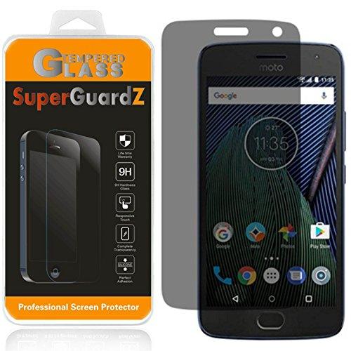 Motorola Moto G5 Plus Tempered Glass Screen Protector [Privacy Anti-Spy], SuperGuardZ, 9H Anti-Scratch, 2.5D Round Edge, Anti-Bubble [Lifetime Replacements]