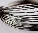 100M SS316 de Acero Inoxidable Cuerda de Alambre de 0,3 mm Alambre Cable más Suave Pesca de elevación por Cable 7X7 Estructura de 0,4 mm de diámetro (tamaño : 0.3mm 100M)