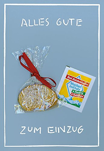 Klappkarte mit Mini-Geschenk & Umschlag in Folie (Grußkarte A6 / Umschlag 12 x 17,5 cm) • 45524 ''Alles Gute zum Einzug'' von Inkognito • Künstler: INKOGNITO © Sobunthier • Mini-Geschenk-Karten