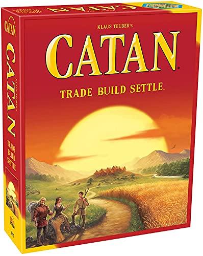 Btrice Catan Games Juego de Mesa clásico, Tarjeta de Fiesta Informal, Juego de Mesa de Cartas de la Serie de Juegos multijugador, Catan Island Solitaire Bar Entertainment Classic Edition