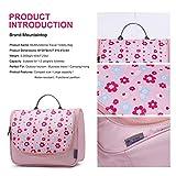 Mountaintop Kulturbeutel Kosmetiktasche Kulturtasche zum Aufhängen Toiletry Bag Waschtasche für Reise Urlaub, 24 x 9 x 19 cm (B - Pale Pink (L)) - 2
