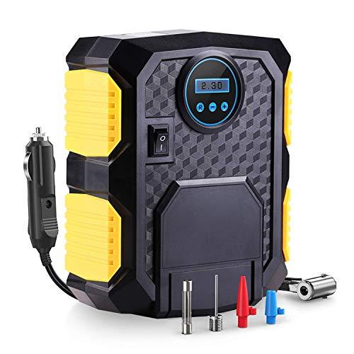 Inflador de neumáticos for automóviles, compresor de aire digital Bomba eléctrica for neumáticos con iluminación de emergencia LED, 12V DC Manómetro 35L / Min Inflado de aire 100 PSI Inflado de neumát