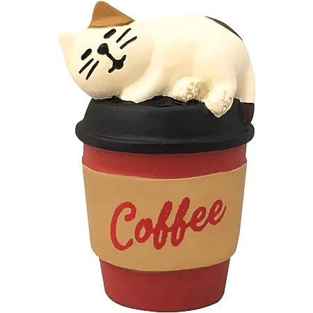 デコレ コンコンブル concombre ぽかぽかコーヒー猫 2.8×2.6×H4.4cm ZCB-43338