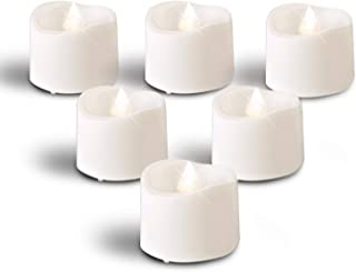 Homemory Bright White Battery Tea Lights Bulk, Set of 12 Flameless LED Tea Candles, Electric Tea Lights with Flickering, Long-Lasting Battery Life, 1.4'' D X 1.25'' H