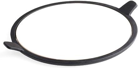 Tepro – Pizzastein Soporte para Bandeja de Acero, 57cm de diámetro 8568, Negro/Beige, 30,5x 37,5x 1cm, 8572