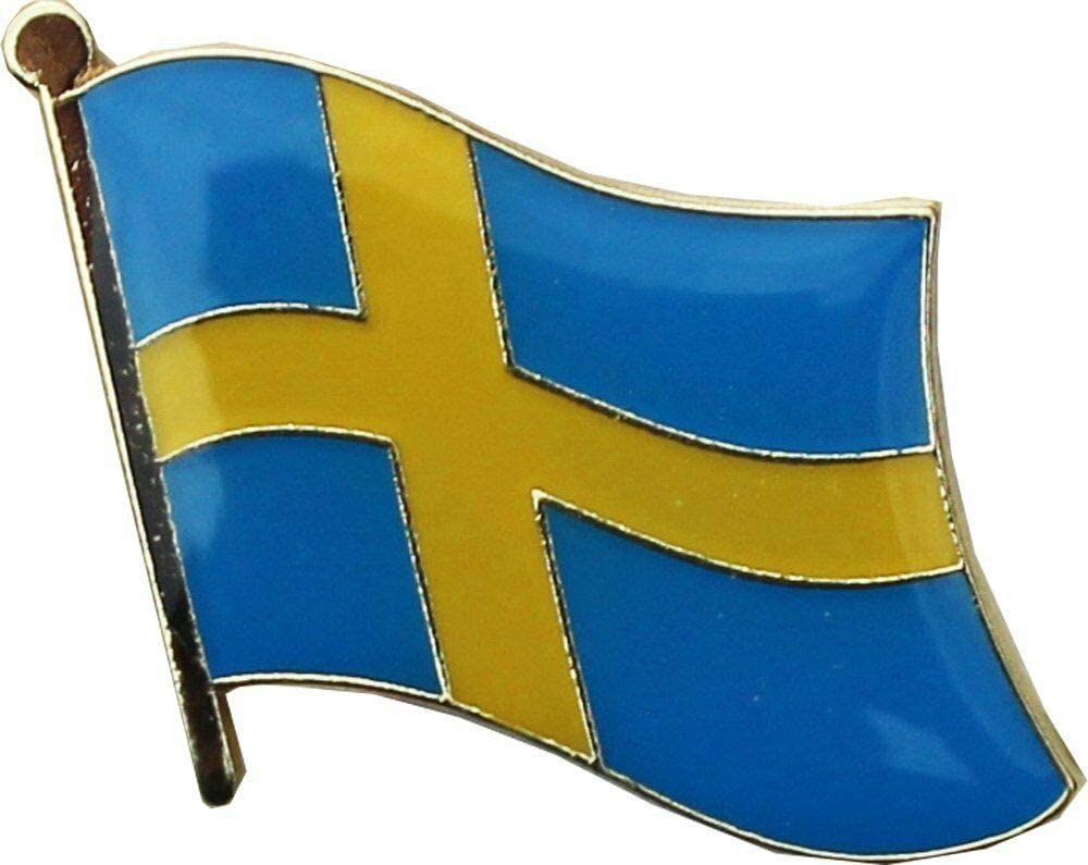 Sweden Country Max 90% OFF Flag Bike Motorcycle Hat Lapel Cap Federal Pin by Max 87% OFF