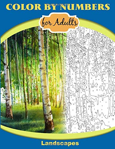 Color by Numbers for Adults: Landscapes: Extreme Color by Numbers Intermediate to Advanced