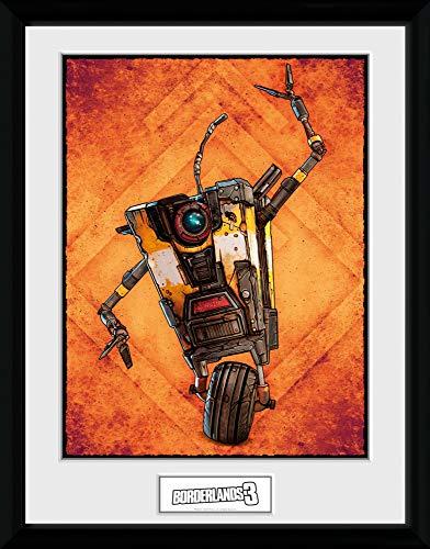 1art1 Borderlands - 3, Claptrap Gerahmtes Bild Mit Edlem Passepartout   Wand-Bilder   Kunstdruck Poster Im Bilderrahmen 40 x 30 cm