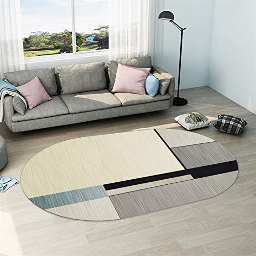 SSHHJ Europäische Art Unregelmäßig Geformte Einfache Haushaltsbodenmatte Anti-Rutsch-Dicke Matte Für Wohnzimmer Und Schlafzimmer Couchtisch Sofa Hotel Bed & Breakfast Party Teppich