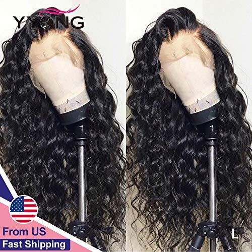 WOOAI Remy Lace Front Perücke 13x6 Perücken Echthaar Lace Frontal Perücken PrePlucked Loose Deep 120 150 Density Malaysian Hair Schweizer Spitze, 13x4 Lace Front Perücke, 18 Zoll