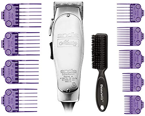 Andis Master Hair Adjustable Blade Clipper, Andis Master Dual Magnet 5-Comb Set, Andis Master Dual Magnet Large 4-Comb Set, BeauWis Blade Brush