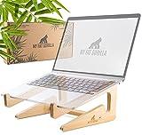 MY FAT GORILLA Laptop Ständer aus Bambus, ergonomisch stabile universal Halterung für Notebook, besserer Luftstrom durch Wärmeableitungseffekt, kompatibel für 10-15 Zoll, Schreibtisch Erhöhung
