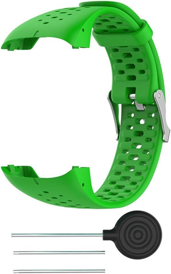 Blau Silikon Armband kompatibel mit Polar M400 Silikonarmband Fitnesstracker Sportarmband Band Ersatz Armband Sportarmband Ersatzband kompatibel f/ür Polar M400 M430 20mm M430 Armband