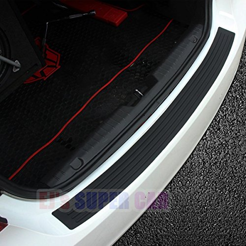 EJs SUPER CAR Rear Bumper Protector Guard Universal Black Rubber Scratch,Resistant Trunk Door Entry Guards Accessory Trim Cover for SUV/Cars,Easy D.I.Y. Installation(35.8Inch)