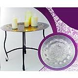TLW direkt Deko Tisch Orient, Silber, 40 Centimeters
