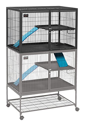 MidWest Homes for Pets Ferret Nation Ferret Cage, Nación Hurón, Platino/Gris