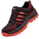 COOU Zapatos de Seguridad Comodo Hombre Mujer con Puntera de Acero S3 Calzado de Trabajo Botas de Trabajo de Seguridad