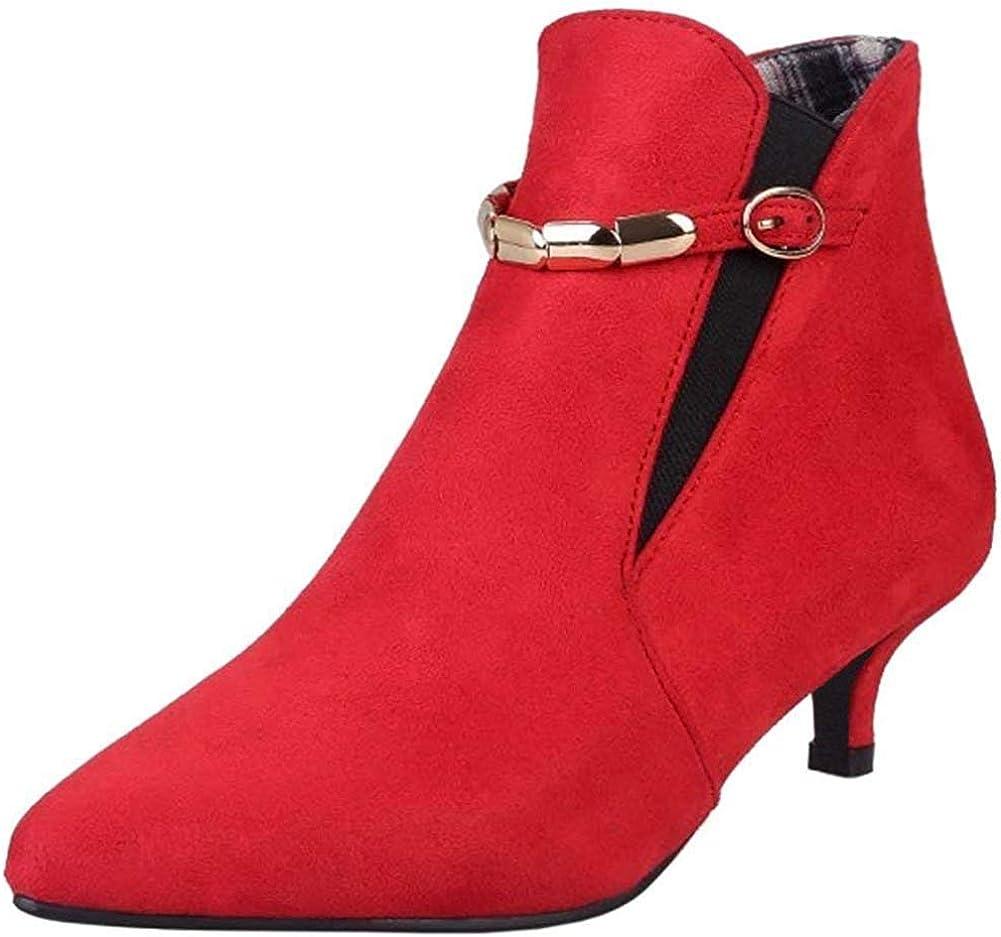 HeelChic Women's Topics on TV Sexy Pointed Special sale item Toe Heel Ankle Evenin Kitten Boots