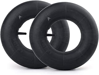"""LotFancy 13x4.0-6"""" Inner Tube(2-Pack) for Wheelbarrows, Wagons, Carts, Hand Trucks, Snow Blowers, Lawn Mowers, Tractors and More, with TR-13 Straight Valve Stem"""