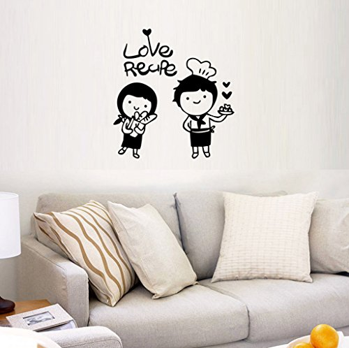 Aoligei Cartoon Paar Engels warm woonkamer slaapkamer decoratie muursticker