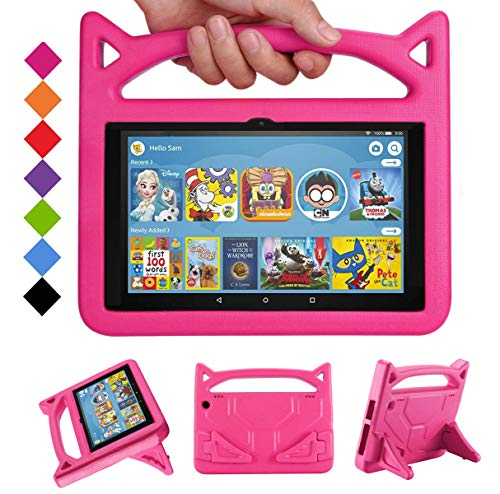 Amazon Fire HD 8 Case 2020, All-New Fire HD 8 Plus Tablet Case Cover for Kids 10th Generation(2020 Release), DJ&RPPQ Light Weight Shock Proof Handle Friendly Stand Kids Proof Protective Cover-Pink