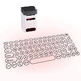 CMM Projection Keyboard, Mini drahtloses Bluetooth USB aufladbare Energien-Bank, mit Handy-Halter, für Tablet, Smartphone, Laptop