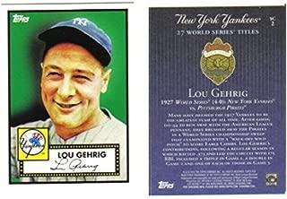 New York Yankees 1927 World Champions Lou Gehrig Topps Baseball Card