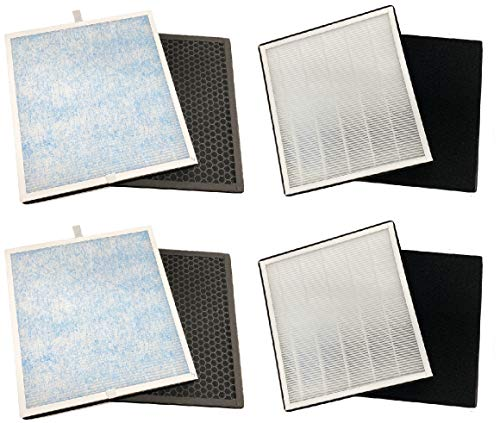Nispira Premium Filter Replacement Set Compatible with Renpho Air Purifier RP-AP001/ RP-AP001S/ RP-AP002, 2 Sets