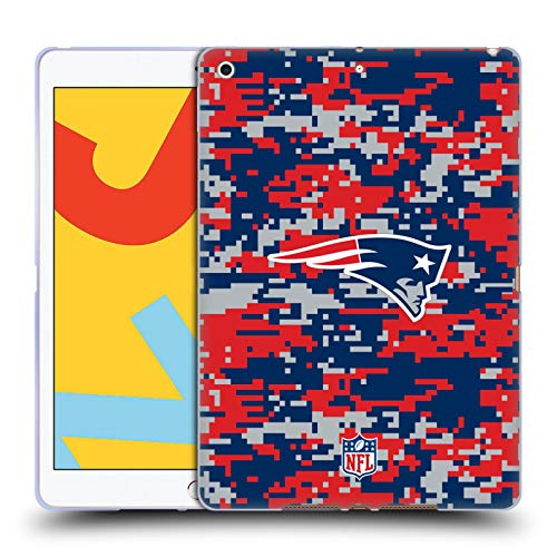 Official NFL Digital Camouflage 2018/19 New England Patriots Soft Gel Case Compatible for Apple iPad 10.2 (2019)/(2020)