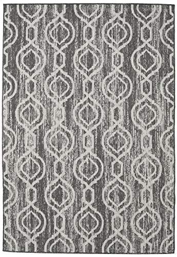 Chain - dunkelgrau / Beige Teppich 200x300 Moderner Teppich
